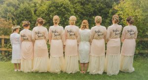 bridal party in dressing gowns