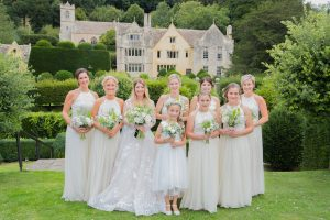 bridal party at owlpen manor
