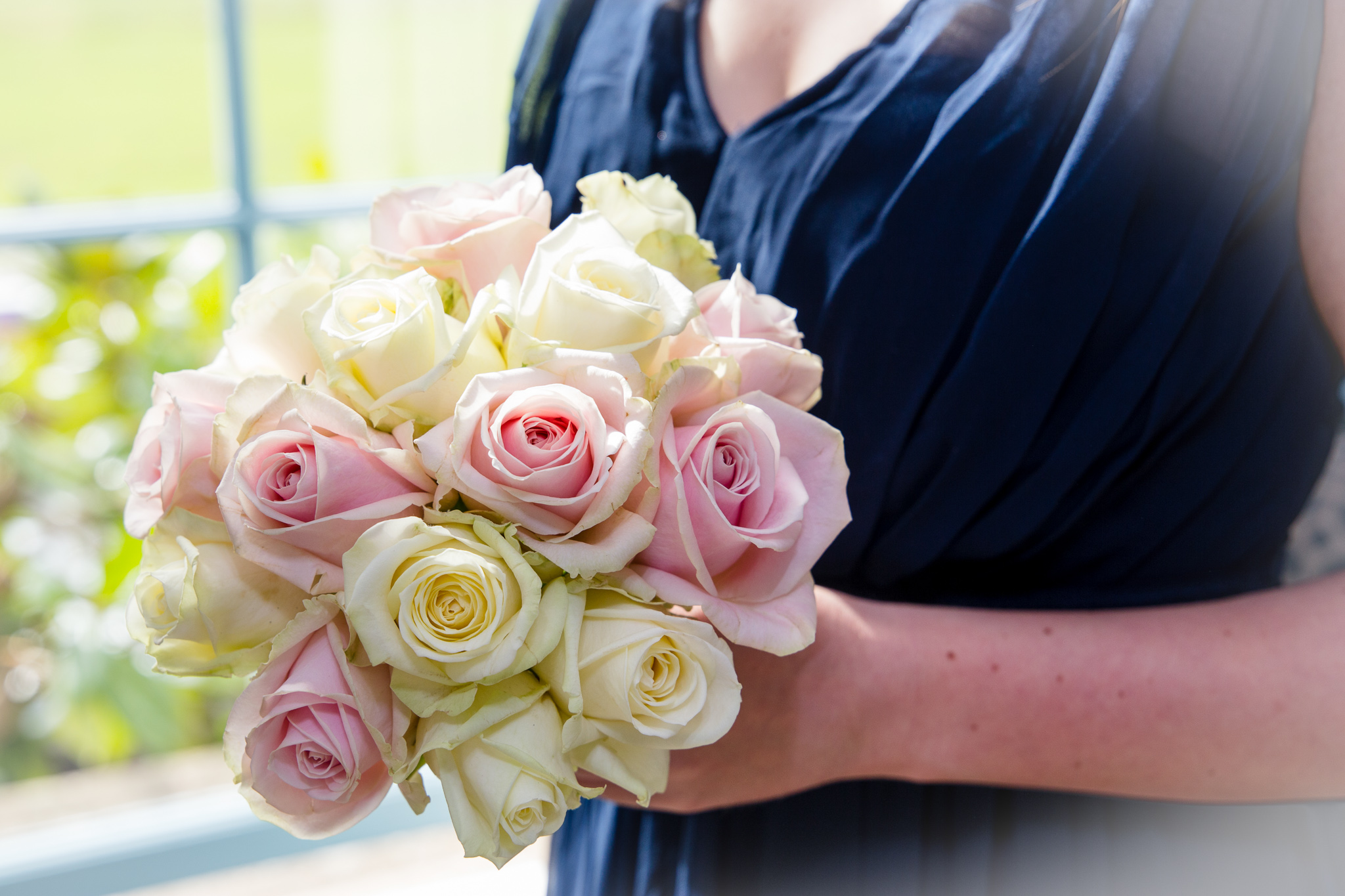 bridesmaid bouquet in hands