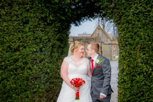 bride and groom tortworth court wedding
