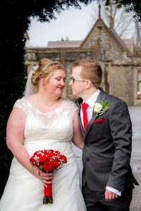 bride and groom at tortworth court hotel