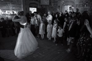 first dance at wedding at woodchester mansion
