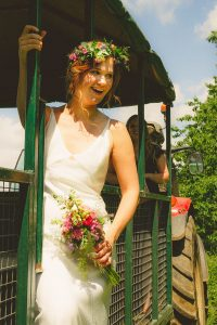 bride on tractor trailer