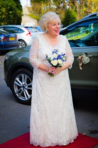 bride at storehouse court hotel Gloucestershire