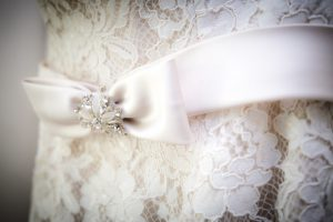 closeup wedding dress