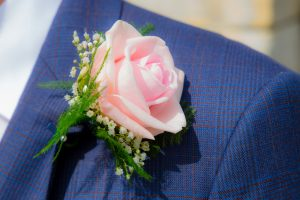 grooms buttonhole at wedding