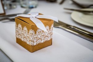 wedding favour on table