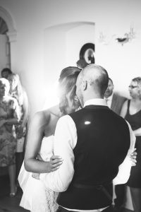 bride and groom first dance photography